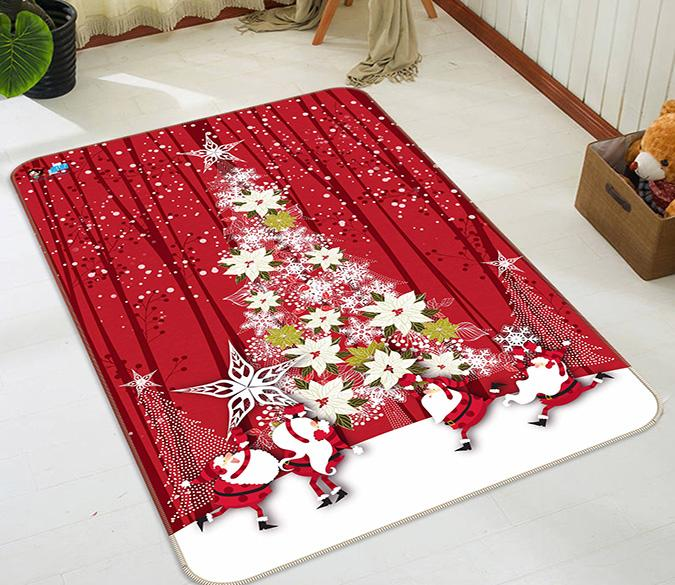 3D Christmas Tree 135 Non Slip Rug Mat Mat AJ Creativity Home