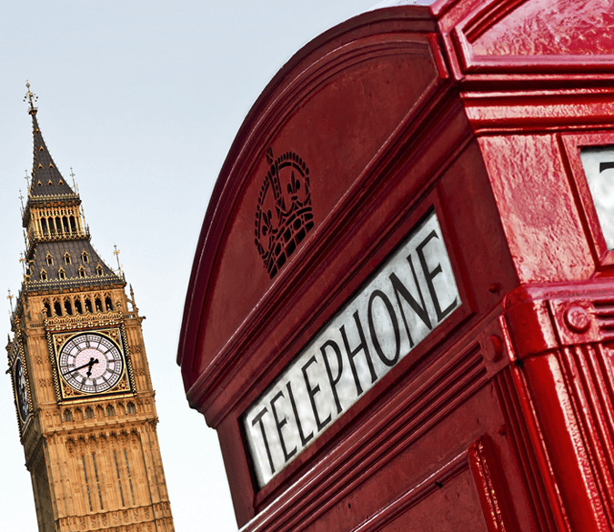 London Old Telephone Wallpaper AJ Wallpapers