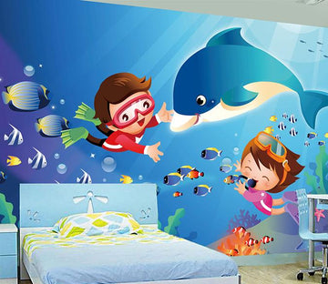 3D Baby Whale 040 Wallpaper AJ Wallpaper