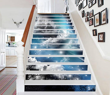 3D Pretty Stars Sky 1102 Stair Risers Wallpaper AJ Wallpaper