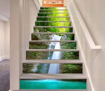 3D Falling Stream 410 Stair Risers Wallpaper AJ Wallpaper