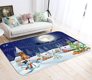 3D Christmas Eve Scenery 93 Non Slip Rug Mat Mat AJ Creativity Home
