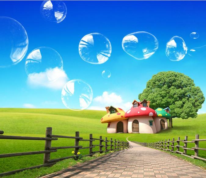 Mushroom Houses Wallpaper AJ Wallpaper