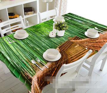 3D Bamboo Forest Stairway 1415 Tablecloths Wallpaper AJ Wallpaper