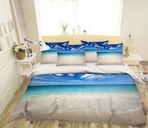 3D Sea Scenery 223 Bed Pillowcases Quilt