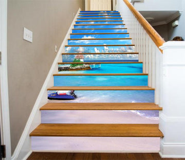 3D Beach Scenery 51 Stair Risers Wallpaper AJ Wallpaper