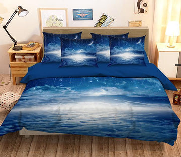 3D  Pretty Stars Sky 126 Bed Pillowcases Quilt