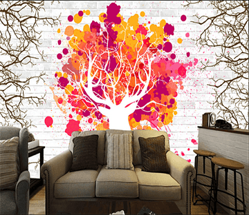 3D Wall Tree 063 Wallpaper AJ Wallpaper