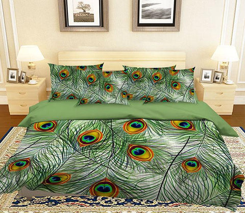 3D Peacock Tail Feathers 327 Bed Pillowcases Quilt