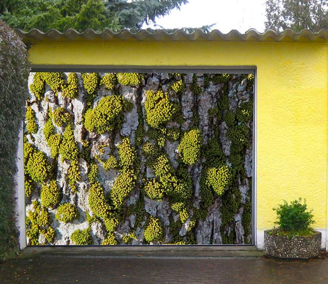 3D Cliff Green Mosses 230 Garage Door Mural Wallpaper AJ Wallpaper