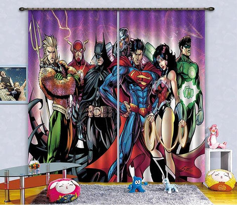 3D Heros And Beauty 2478 Curtains Drapes