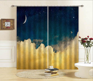 3D Stars Sky Clouds 688 Curtains Drapes Wallpaper AJ Wallpaper