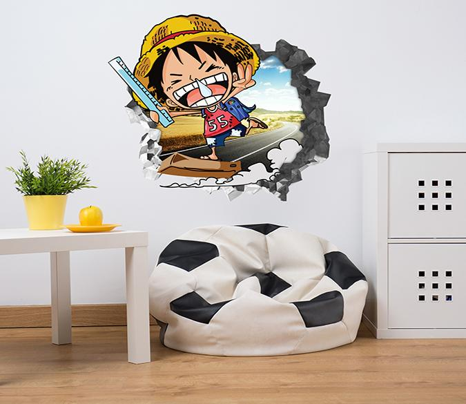 3D Anime One Piece 84 Broken Wall Murals