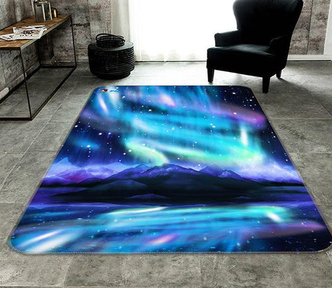 3D Beautiful Aurora 136 Non Slip Rug Mat