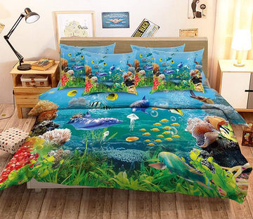 3D Pretty Ocean World 116 Bed Pillowcases Quilt