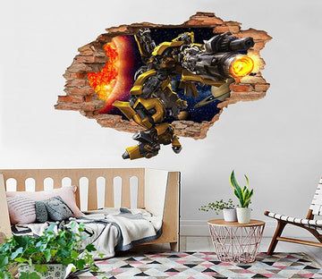 3D Transformers 84 Broken Wall Murals Wallpaper AJ Wallpaper