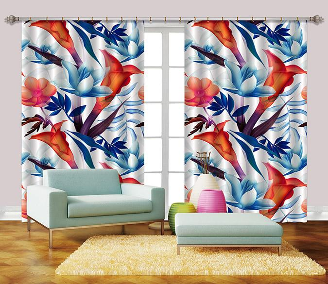 3D Flowers 2321 Curtains Drapes