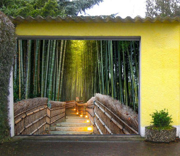 3D Bamboo Forest Stairs 378 Garage Door Mural Wallpaper AJ Wallpaper