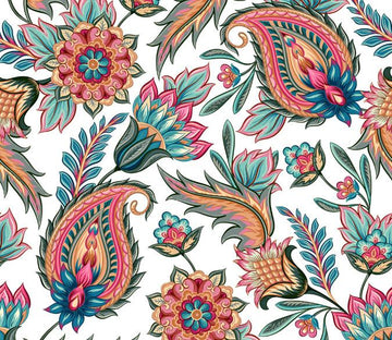 Stylised Florals Wallpaper AJ Wallpaper