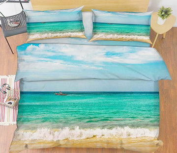 3D Vast Blue Sea 31 Bed Pillowcases Quilt