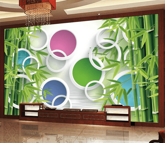 Bamboos And Colored Circles - AJ Walls - 1