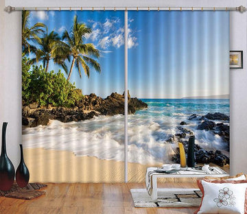 3D Beautiful Beach 03 Curtains Drapes Wallpaper AJ Wallpaper
