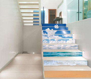 3D Beach Nature Scenery 212 Stair Risers