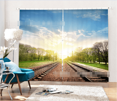 3D Railway Scenery 2181 Curtains Drapes