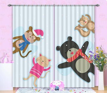 3D Animal Dolls 346 Curtains Drapes Wallpaper AJ Wallpaper