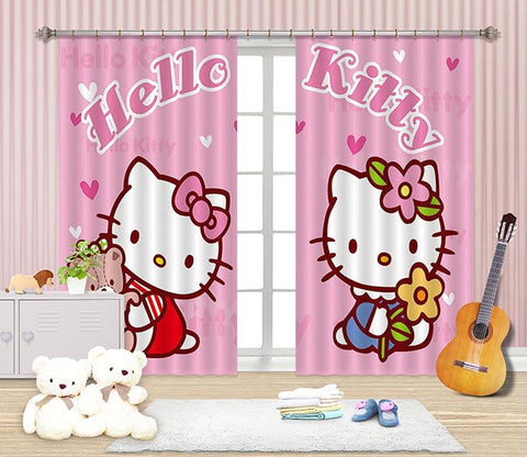 3D Pretty Cute Cartoon Cats 2473 Curtains Drapes