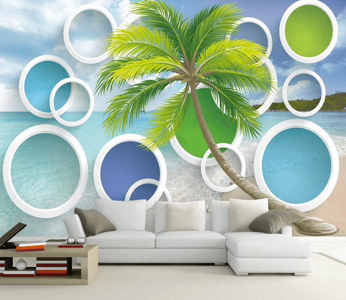 Beach And Colored Circles - AJ Walls - 1