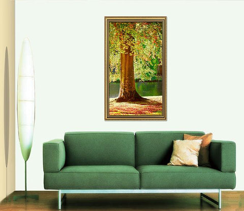 3D Big Tree 049 Fake Framed Print Painting