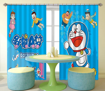 3D Cartoon Characters 2449 Curtains Drapes