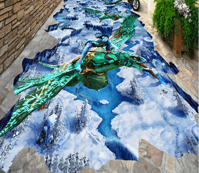 3D Avatar Floor Mural Wallpaper AJ Wallpaper 2