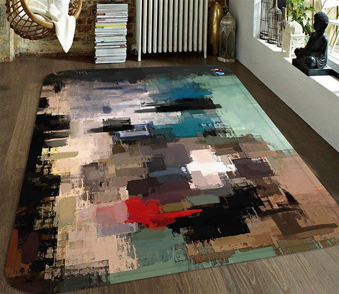 3D Abstract Oil Painting 70 Non Slip Rug Mat Mat AJ Creativity Home
