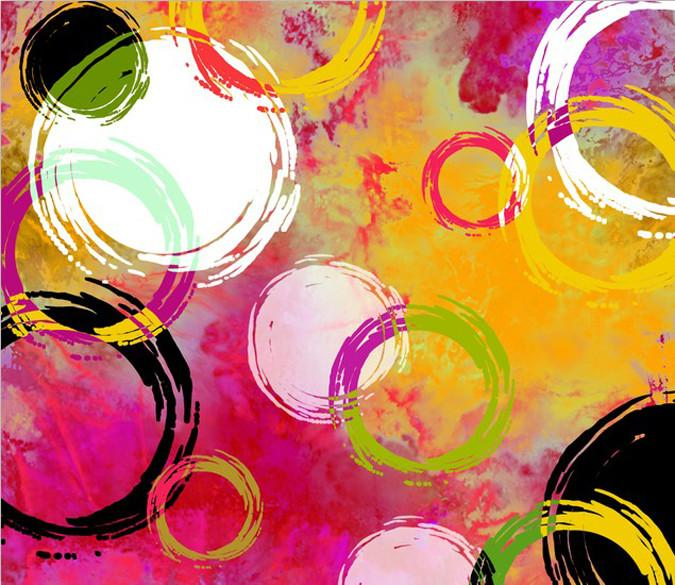 Colorful Circles Wallpaper AJ Wallpaper