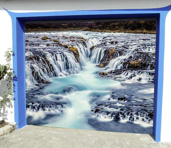 3D River Waterfalls 255 Garage Door Mural Wallpaper AJ Wallpaper