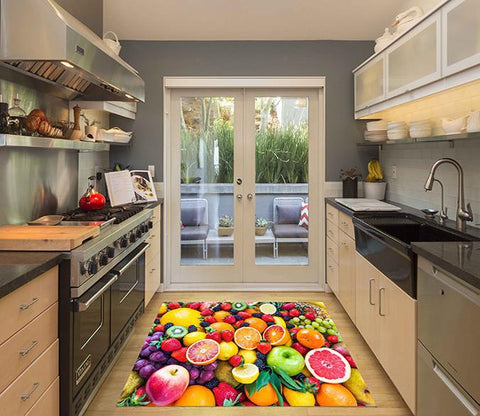 3D Colorful Fruits Kitchen Mat Floor Mural
