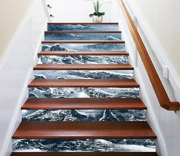 Details about  /3D Branches Sky Stair Risers Decoration Photo Mural Vinyl Decal Wallpaper UK