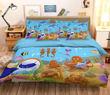 3D Lovely Ocean World 138 Bed Pillowcases Quilt Wallpaper AJ Wallpaper