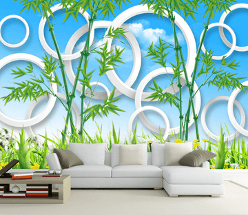 Fresh Bamboos And Circles Wallpaper AJ Wallpaper
