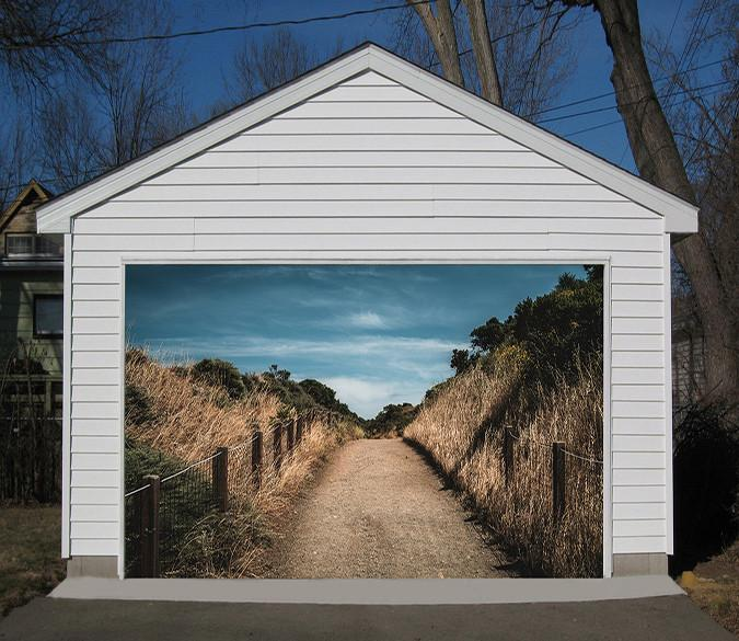 3D Roadside Weeds 168 Garage Door Mural