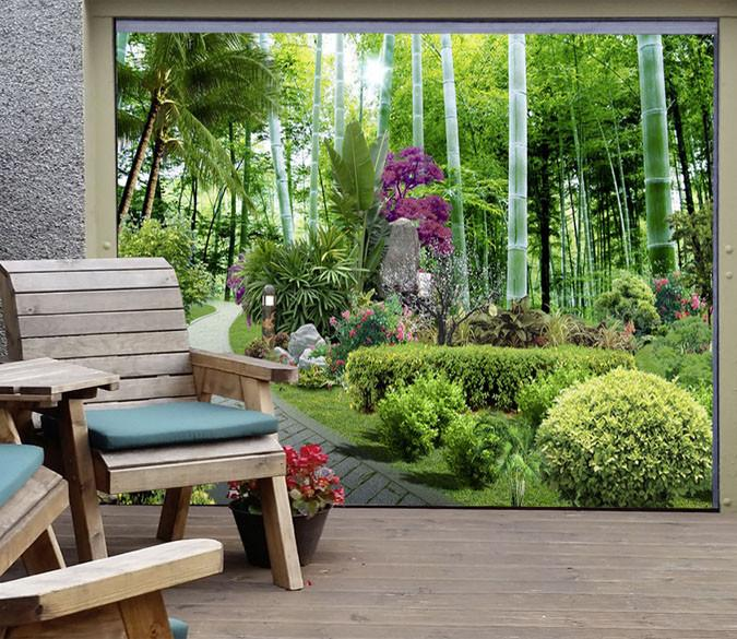 3D Bamboo Forest 393 Garage Door Mural