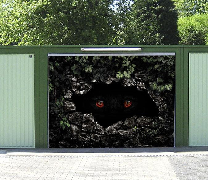 3D Animal Eyes 438 Garage Door Mural
