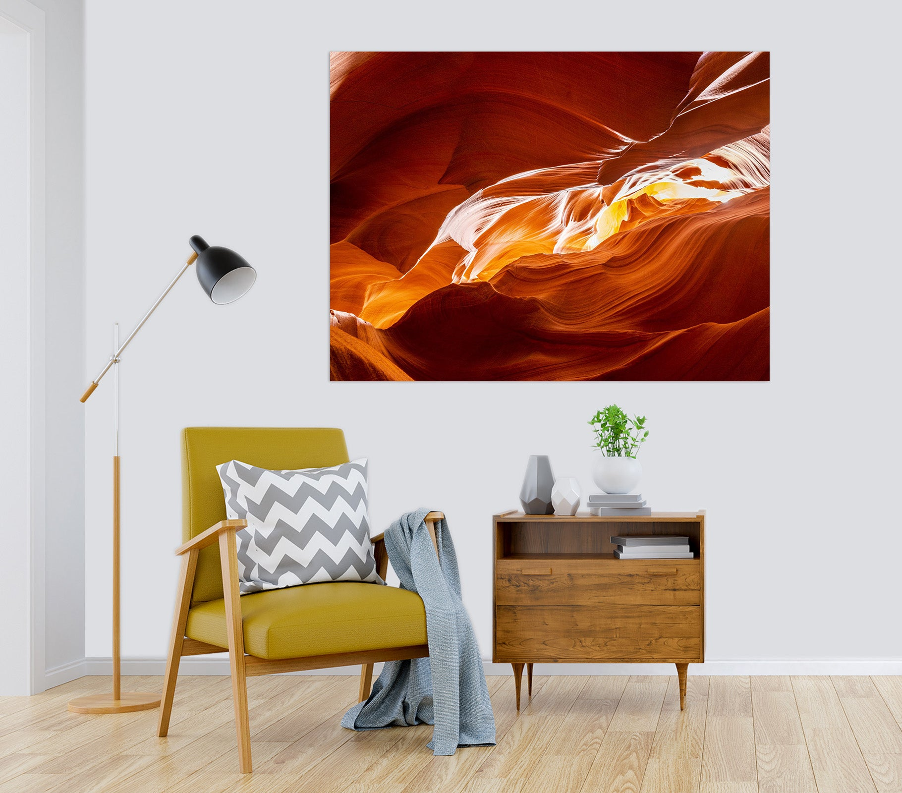3D Red Magma 215 Marco Carmassi Wall Sticker