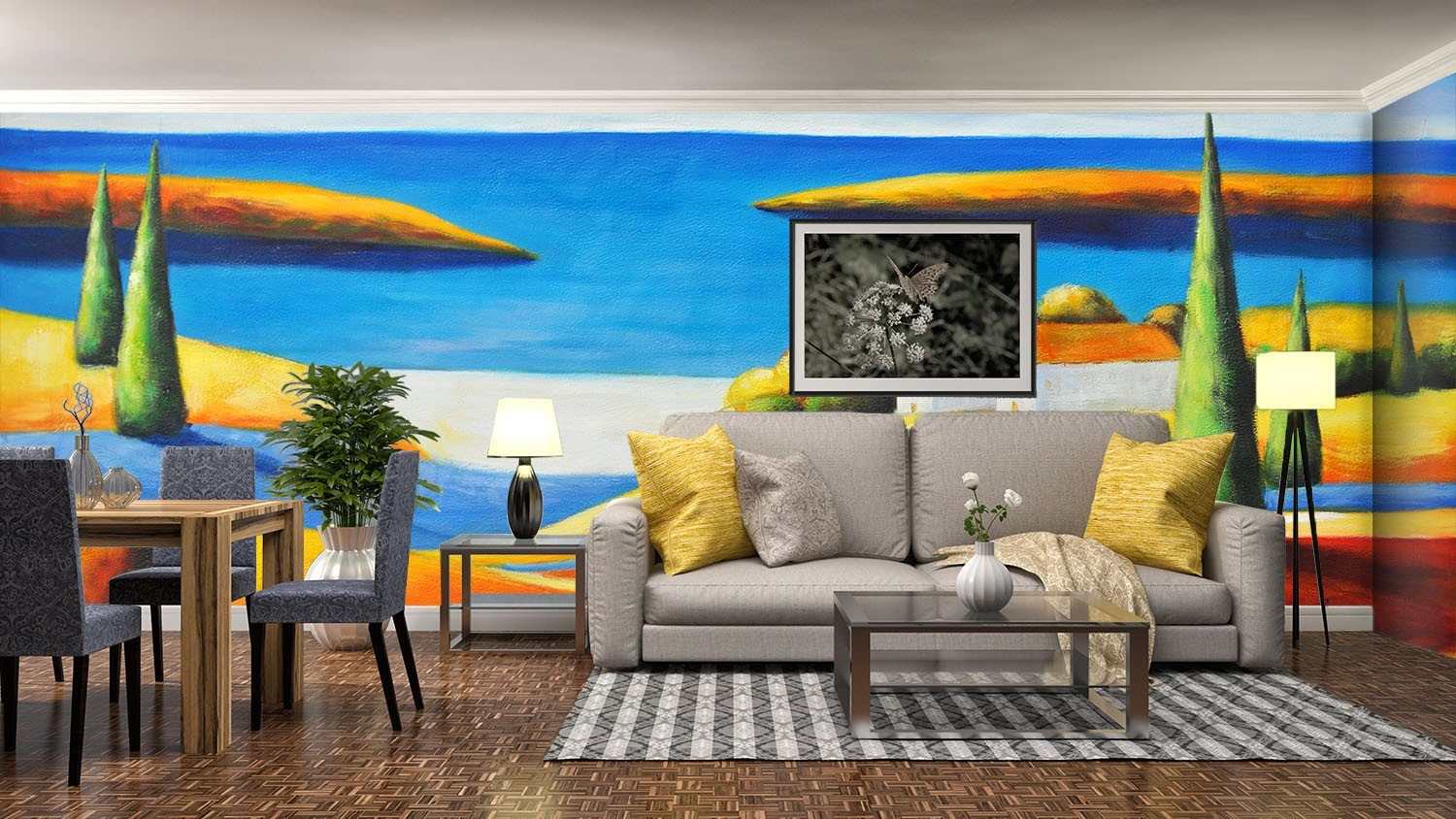 Beach Village Painting - AJ Walls - 3