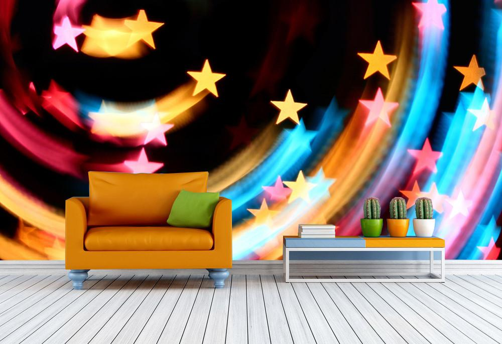Colored Stars Beams Wallpaper AJ Wallpaper