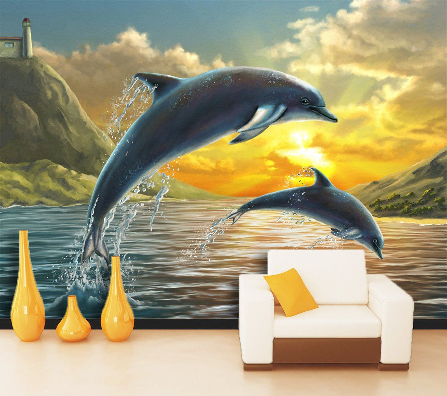 3D Jumping Dolphins 464
