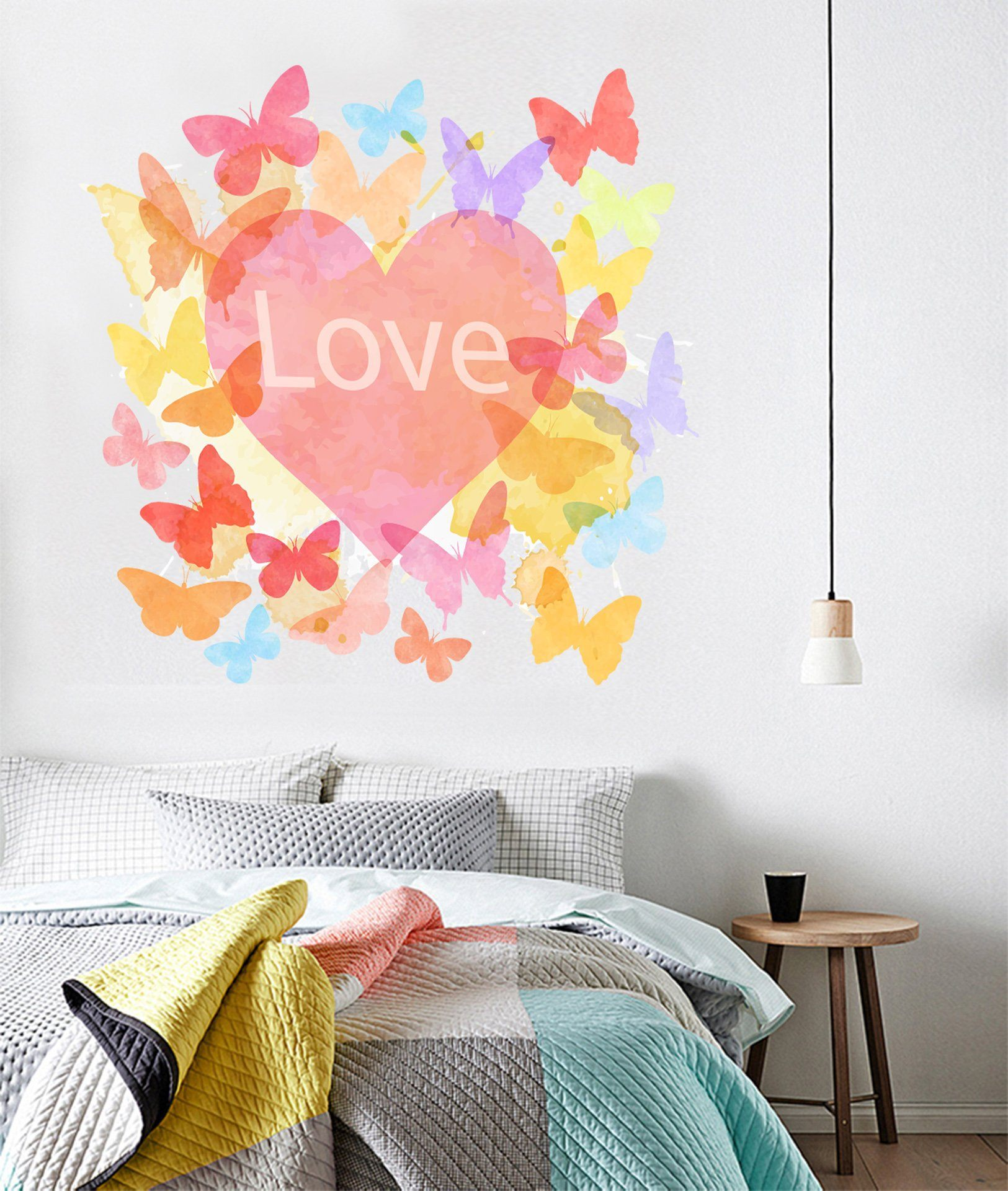 3D Love Butterfly 126 Wall Stickers Wallpaper AJ Wallpaper