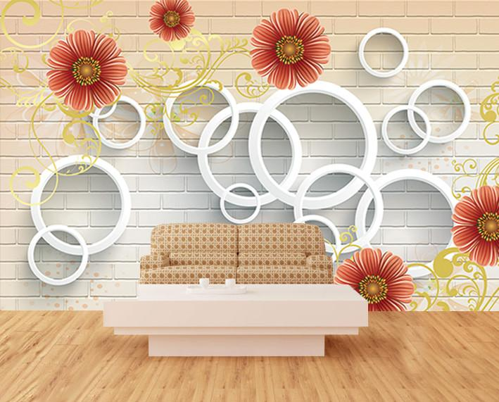 3D Chrysanthemum Pattern 364 Wallpaper AJ Wallpaper